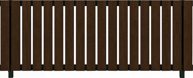 ↑ルシアス フェンス H01型 たて板格子 T80 B7 Z9(自由柱施工_商品単体外観_XFZ90438B7