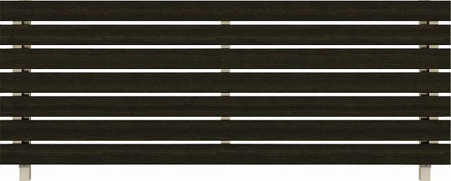 ↑ルシアス フェンス H02型 横板格子 T80 H2 W6(自由柱施工_商品単体外観_XFW60439H2