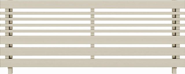 ↑ルシアス フェンス H04型 横板格子細横格子 T80 H2(自由柱施工_商品単体外観_XFH20441