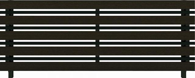 ↑ルシアス フェンス H03型 横板格子細横格子 T80 B7 W6(自由柱施工_商品単体外観_XFW60440B7