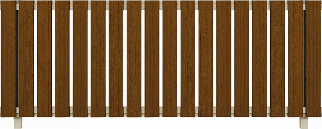 ↑ルシアス フェンス H01型 たて板格子 T80 H2 YF(自由柱施工_商品単体外観_XFYF0438H2