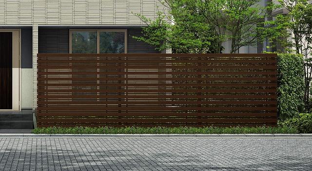 ↑ルシアス スクリーンフェンス S05型 横板格子細横格子 T200 Z9_6000_XFSS0208Z9