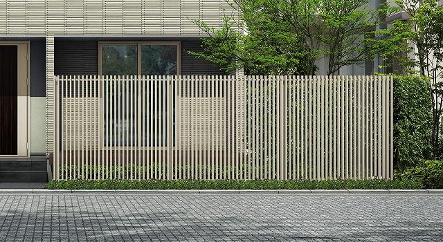 ↑ルシアス スクリーンフェンス S02型 たて格子 T200 H2_6000_XFSS0204H2