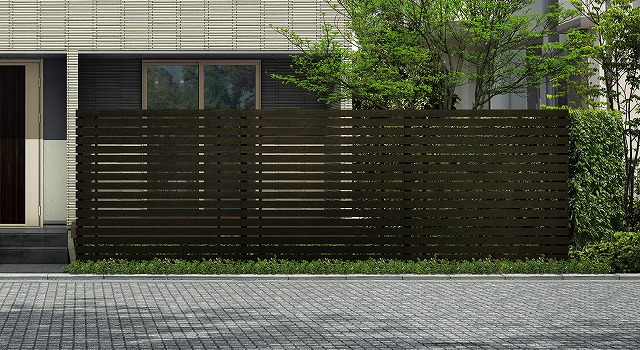↑ルシアス スクリーンフェンス S03型 横板格子 T200 W6_6000_XFSS0205W6