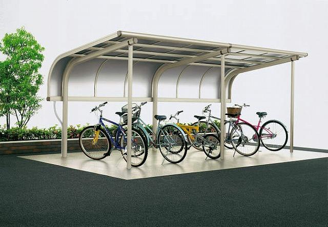 ↑サイクルキャップ 積雪50cm地域用 基本セット5521 屋根ふき材アルミ板 補助柱付 H2_商品単体外観_X16321H2
