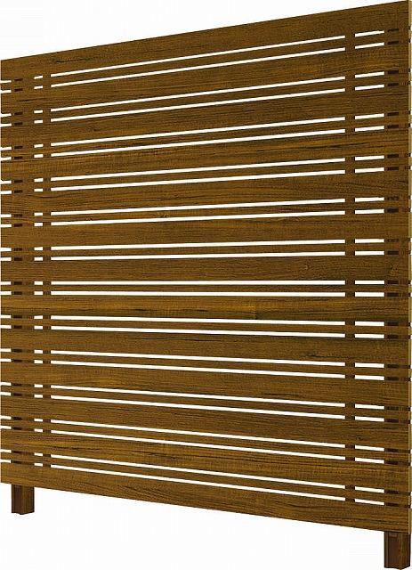 ↑ルシアス スクリーンフェンス S05型 横板格子細横格子 T200 YF__XFYF0410