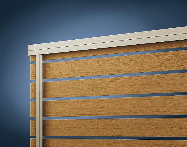 ↑ルシアス フェンス H02型 横板格子〈家屋側 H2 W7_部分_XFXX0647W7