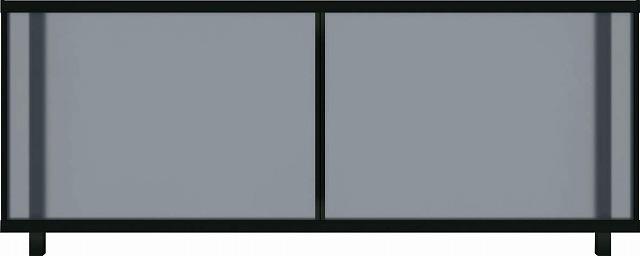 ↑ルシアス フェンス J01型 ポリカパネル T80 スモークブルー B7自由柱施工_商品単体外観_XFB70447