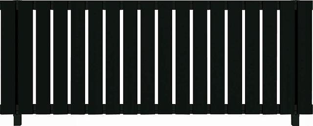 ↑ルシアス フェンス H01型 たて板格子 T80 B7自由柱施工_商品単体外観_XFB70438