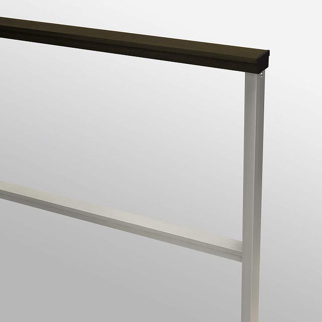 ↑ルシアス フェンスLite02型 T80 柱・横格子・横格子H2笠木W6 端部納まり カラーバリエーション_部分_XFH20505W6
