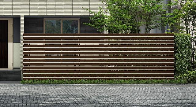 ↑ルシアス スクリーンフェンス S05型 横板格子細横格子 T200 Z9H2_6000_XFSS0208Z9H2