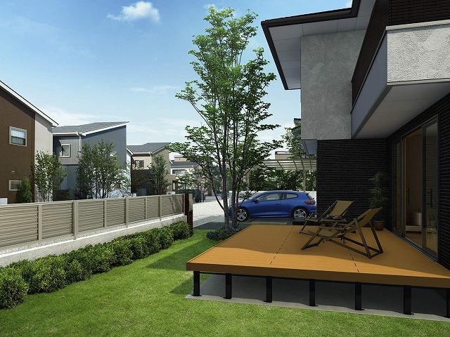↑ルシアス フェンス F02型 H2 YF家屋側_施工内観CG_XFSS0225