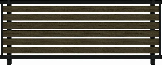 ↑ルシアス フェンス F04型 横半目隠し T80 B7 W6_商品単体外観_XFW60462B7