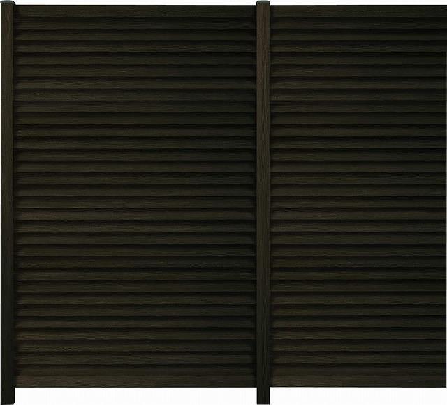 ↑ルシアス スクリーンフェンス R02型 通風ガラリルーバー H1900 柱ピッチ1200__XFW60420