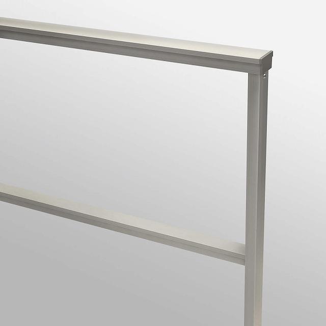 ↑ルシアス フェンスLite02型 T80 柱・横格子H2笠木H2 端部納まり カラーバリエーション_部分_XFH20505