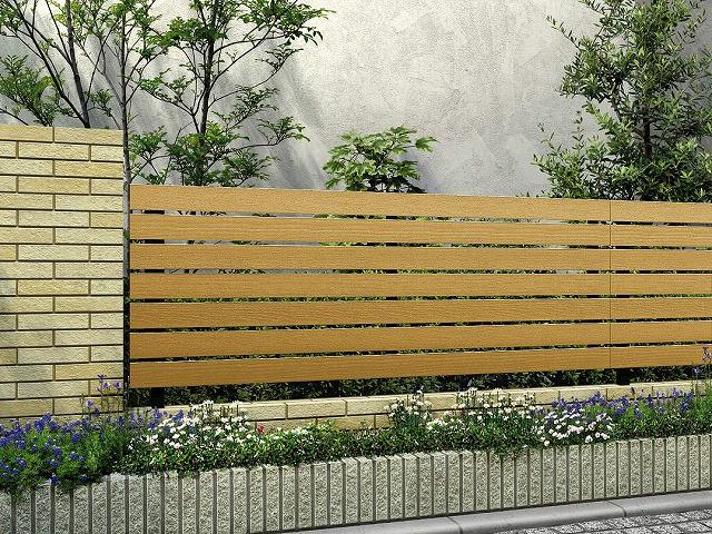↑ルシアス フェンス H02型 横板格子 T80 B7 W7_商品単体外観_XFW70449B7