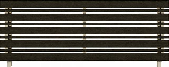 ↑ルシアス フェンス H03型 横板格子細横格子 T80 H2 W6(自由柱施工_商品単体外観_XFW60440