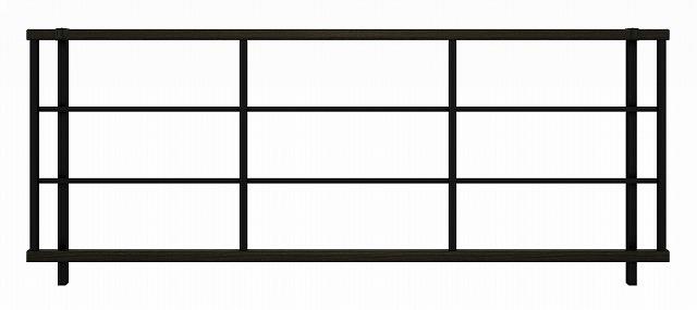 ↑ルシアス フェンス H05型 横格子 T80 B7 W6(自由柱施工_商品単体外観_XFW60442B7