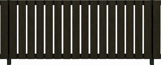 ↑ルシアス フェンス H01型 たて板格子 T80 B7 W6(自由柱施工_商品単体外観_XFW60438B7