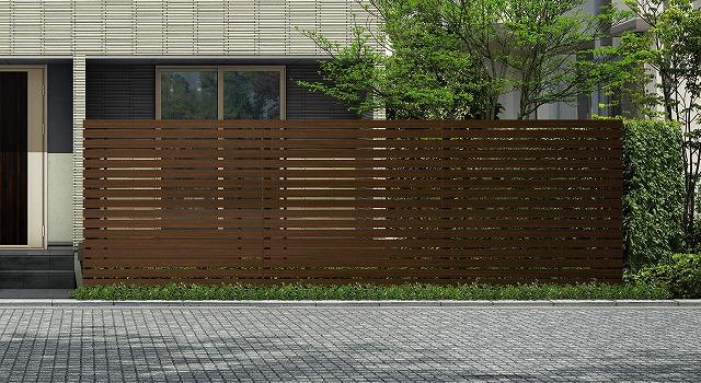 ↑ルシアス スクリーンフェンス S03型 横板格子 T200 Z9_6000_XFSS0205Z9