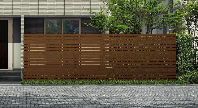 ↑ルシアス スクリーンフェンス S03型 横板格子 T200 YF_6000_XFSS0205YF
