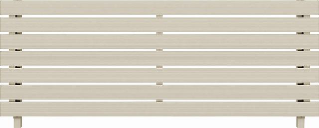 ↑ルシアス フェンス H02型 横板格子 T80 H2(自由柱施工_商品単体外観_XFH20439