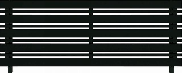 ↑ルシアス フェンス H03型 横板格子細横格子 T80 B7自由柱施工_商品単体外観_XFB70440