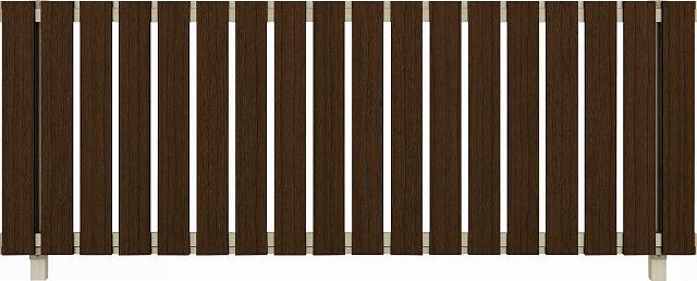 ↑ルシアス フェンス H01型 たて板格子 T80 H2 Z9(自由柱施工_商品単体外観_XFZ90438H2
