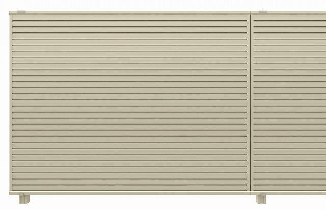 ↑ルシアス スクリーンフェンス R01型 横目隠し 自由柱施工 T160 H2__XFH20415