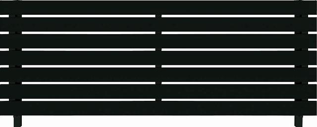 ↑ルシアス フェンス H02型 横板格子 T80 B7自由柱施工_商品単体外観_XFB70439