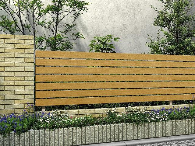 ↑ルシアス フェンス H02型 横板格子 T80 H2 W7_商品単体外観_XFW70449H2