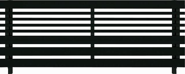 ↑ルシアス フェンス H04型 横板格子細横格子 T80 B7自由柱施工_商品単体外観_XFB70441
