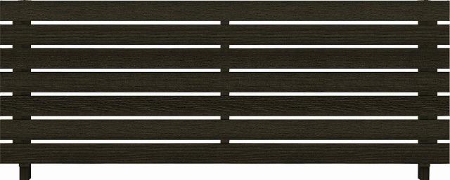 ↑ルシアス フェンス H02型 横板格子 T80 W6(自由柱施工_商品単体外観_XFW60439A