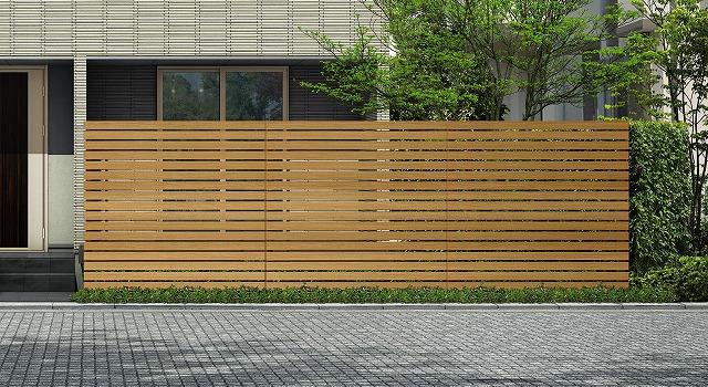 ↑ルシアス スクリーンフェンス S03型 横板格子 T200 W7_6000_XFSS0205W7