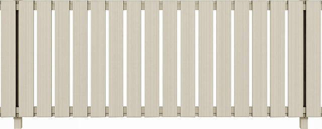 ↑ルシアス フェンス H01型 たて板格子 T80 H2(自由柱施工_商品単体外観_XFH20438