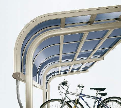 ↑サイクルキャップ 梁柱一体曲げデザイン H2_部分_X16304H2