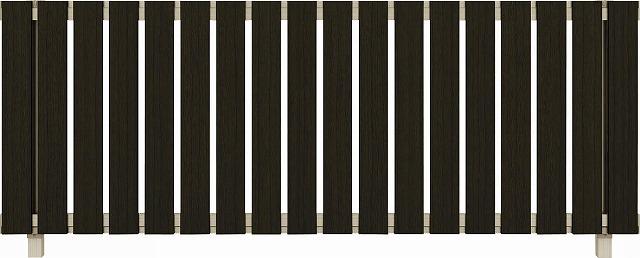 ↑ルシアス フェンス H01型 たて板格子 T80 H2 W6(自由柱施工_商品単体外観_XFW60438H2