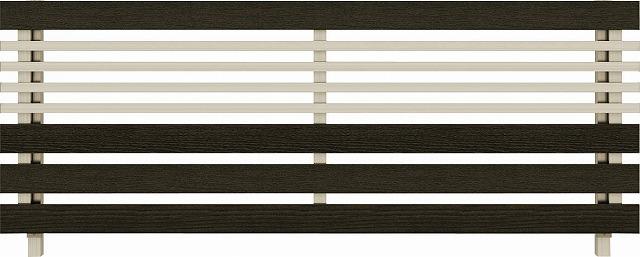 ↑ルシアス フェンス H04型 横板格子細横格子 T80 H2 W6(自由柱施工_商品単体外観_XFW60441H2