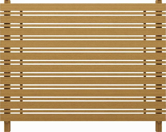 ↑ルシアス スクリーンフェンス S05型 横板格子細横格子 T160 W7__XFW70407
