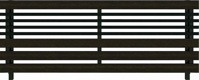 ↑ルシアス フェンス H04型 横板格子細横格子 T80 B7 W6(自由柱施工_商品単体外観_XFW60441B7