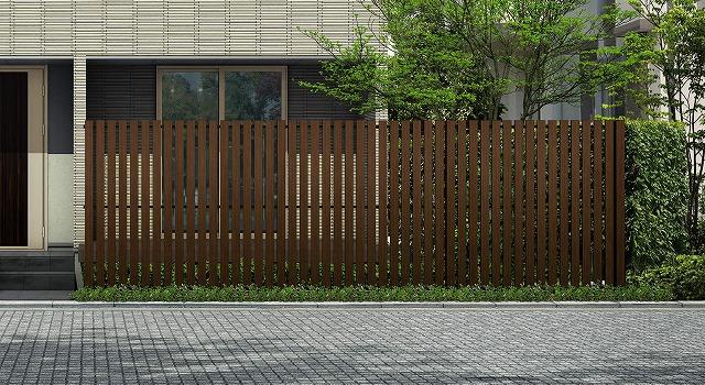 ↑ルシアス スクリーンフェンス S04型 たて板格子 T200 Z9_6000_XFSS0206Z9