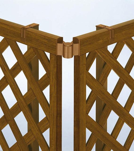 ↑スタンダードフェンス 自由柱施工 コーナー継手 YF_アルミ押出し形材_XFXX0200YF