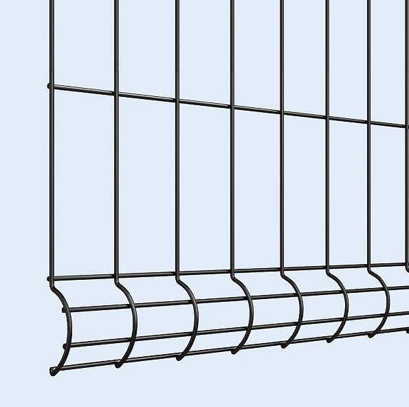 ↑イーネット フェンス3F型〈自由柱タイプ 本体デザイン 〈下部デザイン B7_部分_XFXX0771