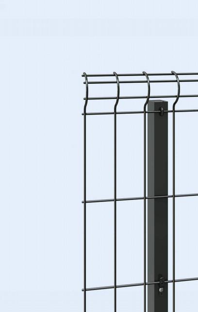 ↑イーネット フェンス2F2FK型〈自由柱タイプ 端部キャップ TM_部分_XFXX0602