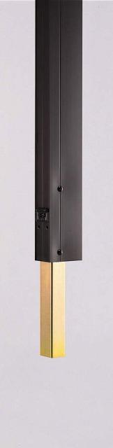↑竹垣風フェンス麗シリーズ 自由柱施工 ブロック建て用柱(独立基礎納まり 埋込部(T80・T100 B7__XFXX0585