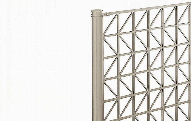↑シャローネ フェンス T100間仕切柱施工:切詰端部部品(使用時_部分_XFXX0683H2