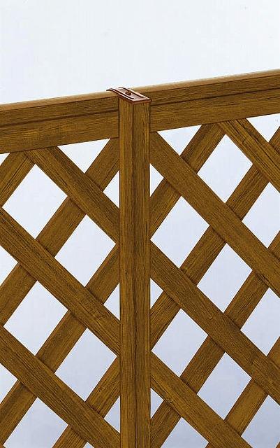 ↑スタンダードフェンス 自由柱施工 自由柱家屋側 YF_アルミ押出し形材_XFXX0199YF