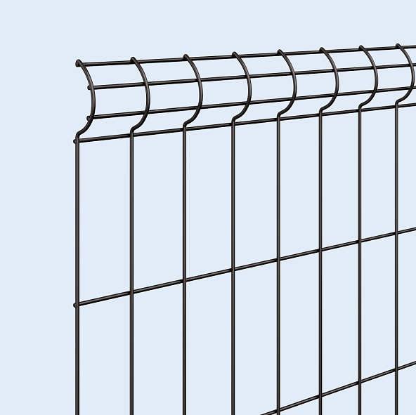 ↑イーネット フェンス3F型〈自由柱タイプ 本体デザイン 〈上部デザイン B7_部分_XFXX0770