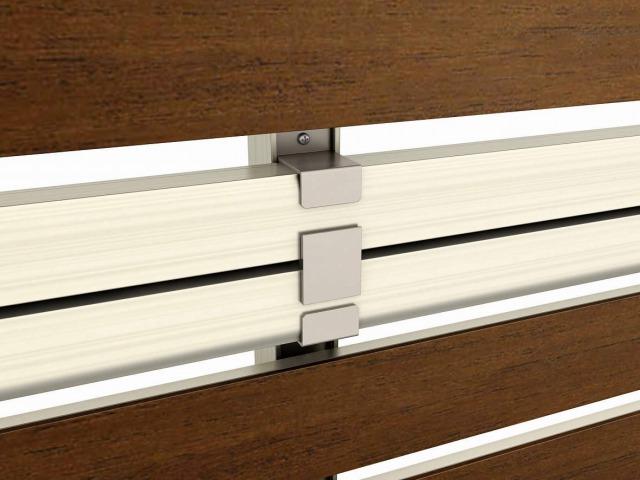 ↑2段支柱(ブロック建て用多段支柱用胴縁固定金具 H2 YF__XFXX0652