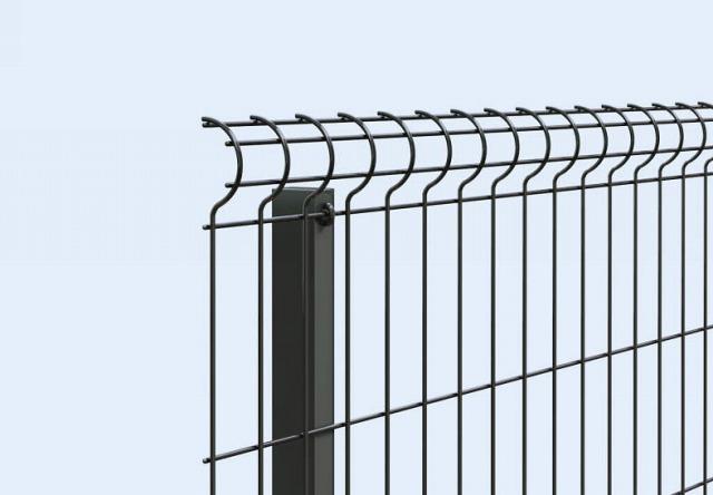 ↑イーネット フェンス2F2FK型〈自由柱タイプ 自由柱施工 アルミ柱(家屋側 TM_部分_XFXX0605